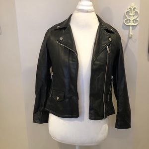 Zara Girls Faux Leather Jacket